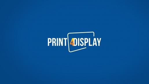 PRINT4DISPLAY Projekt logotypu firmowego