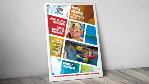 wodny park Projekt plakatu firmowego